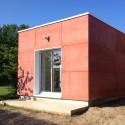 Extension contemporaine structure bois Rhône